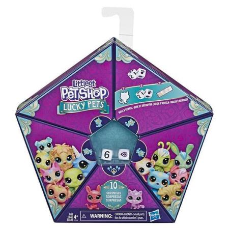 LITTLEST PET SHOP E7258 Набор LUCKY PETS 4 фигурки, 4 подвески с шармиками в коробке от магазина ДЕТКИ